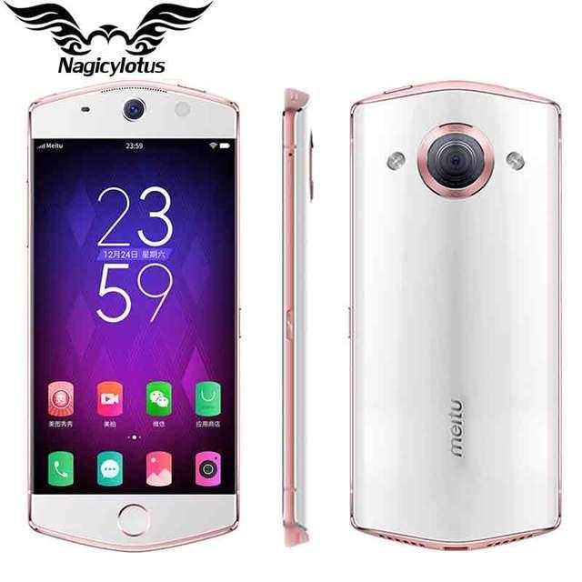 Original Meitu M6 Mobile Phone 3GB RAM 64GB ROM 5.0 inch MT6755 Octa Core 2.0 GHz 4G LTE Network 21MP Camera Android 6.0 2900mAh
