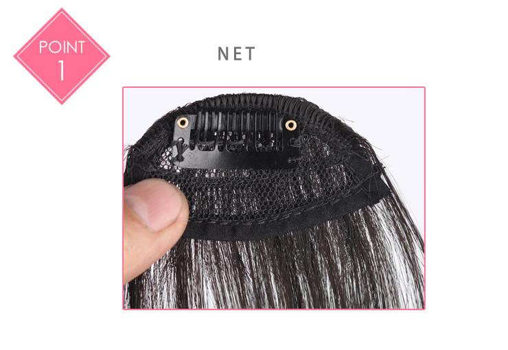 Hair Sw Faux Blunt Bangs Mini Clip In Hair Extension Artificial