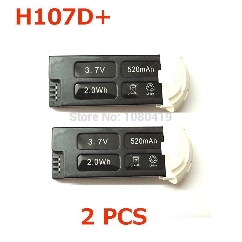 ( In stock ) Original Hubsan FPV X4 Plus battery H107D+ battery 3.7V 520mAh Hubsan FPV X4 Plus Spare parts Free shipping