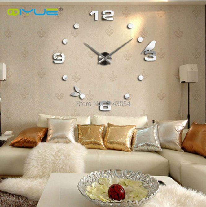 Home Decorations Digital Wall Clock European Oversized Living Room Modern Minimalist Fashion Diy Art Bell