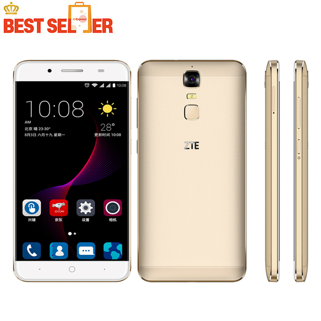 "Original ZTE Blade A2 Plus Android 6.0 MT6750T Octa Core 3G 32GB Mobile Phone Dual SIM 5000Mah 5.5""FHD Metal Body FingerPrint"