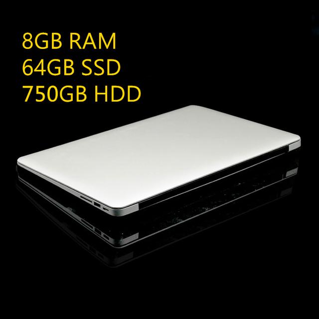 1920X1080 P FHD Экран 8 ГБ RAM + 64 ГБ SSD + 750 ГБ HDD Windows10 ZET Ультратонкий Quad Core Быстрый Запуск Ноутбук Нетбук Ноутбук