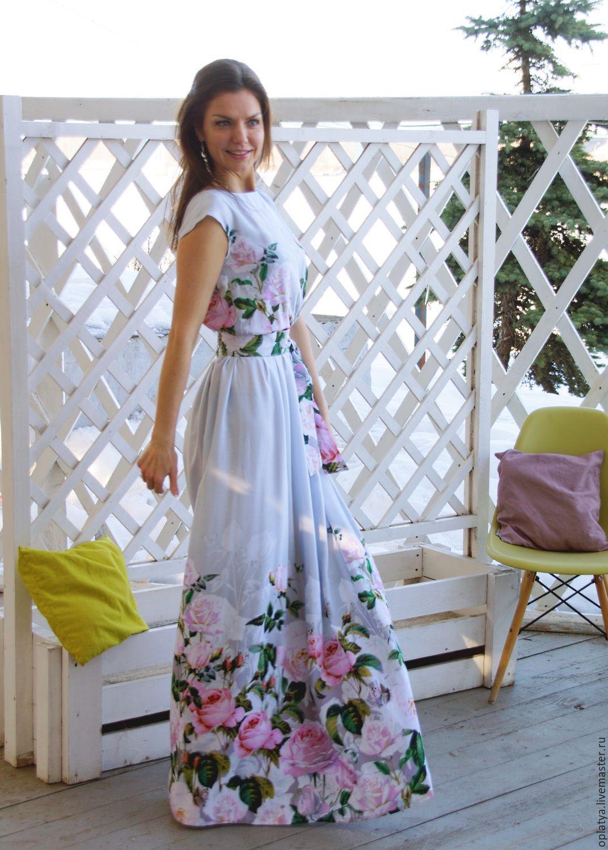 Women Summer Dress Print Maxi Dress O Neck Sleeveless