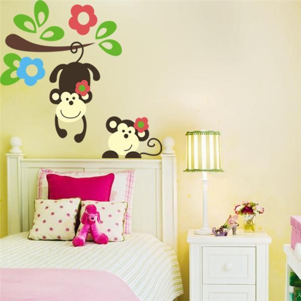 kids bedroom sticker wall murals kawaii monkey hang tree wall stickers kids bedroom
