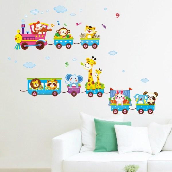 kids bedroom sticker wall murals 2016 new animal wall sticker kids cartoon mural children's