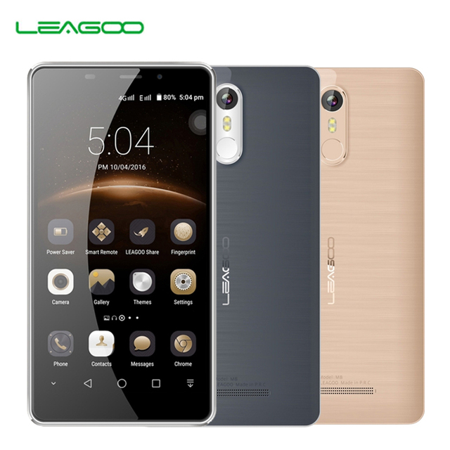 "Leagoo M8 Smartphone 5.7""HD IPS Android 6.0 MT6580A Quad Core 2GB RAM 16GB ROM 3500mAh Battery 13.0 MP OTA Fingerprint Phone"