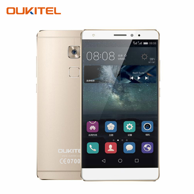 Oukitel U13 5.5 FHD 2.5D Screen Fingerprint Smartphone 3GB RAM+64GB ROM Cell Phone MT6753 Octa Core Android 6.0 Mobile Phone