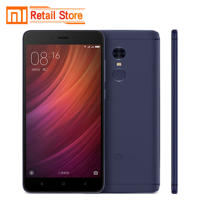 "Original Xiaomi Redmi Note 4 Pro Prime 3GB RAM 64GB ROM Mobile Phone 5.5"" MTK Helio X20 Deca Core 13MP 4100mAh Fingerprint ID"
