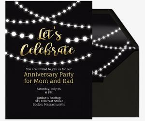 Online Wedding Anniversary Invitation W Rsvp Tracker Evite