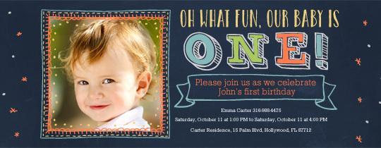 Free Birthday Invitation For 1 Year Old Boy - Wedding ...