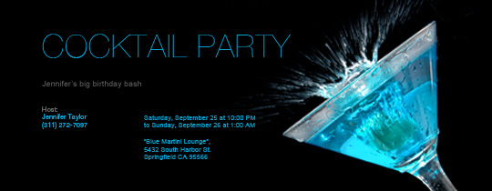 Free Cocktail Party Invitations Amp RSVP Tracking