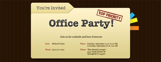 Christmas Office Party Invitation Templates - Wedding Invitation ...