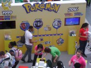 This booth showed off a lot of awesome Pokemon history.