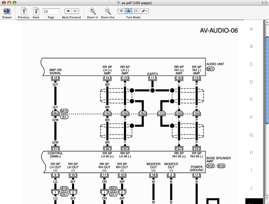 Infiniti G35 Audio Wiring Diagram