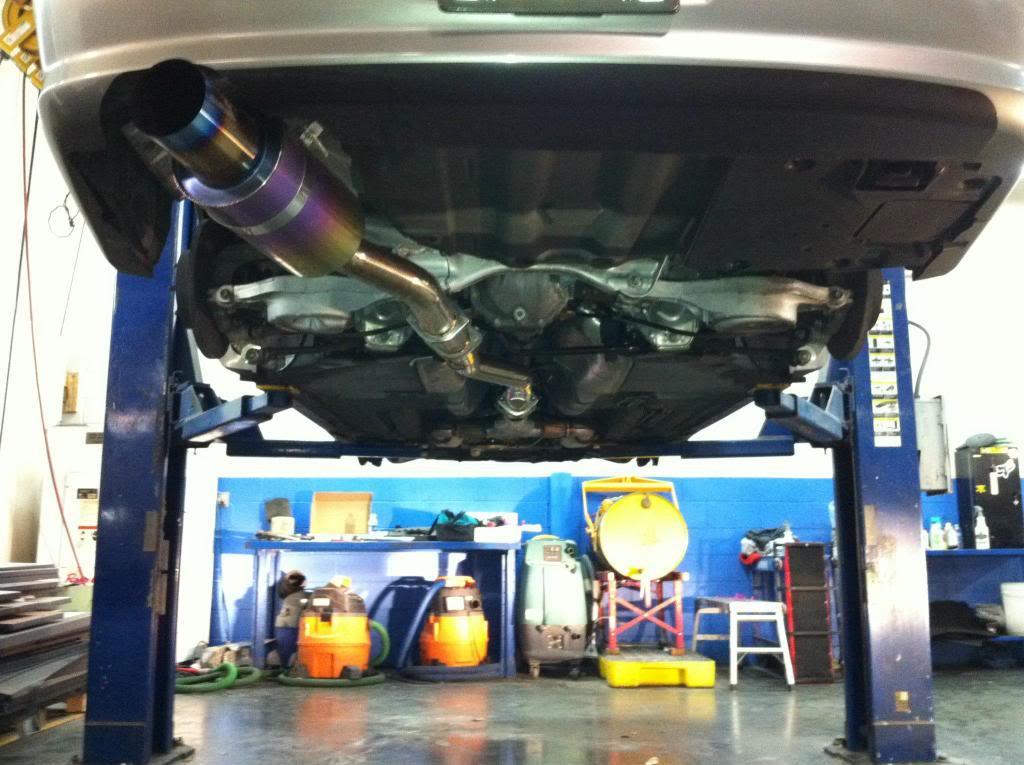 agency power exhaust on sedan