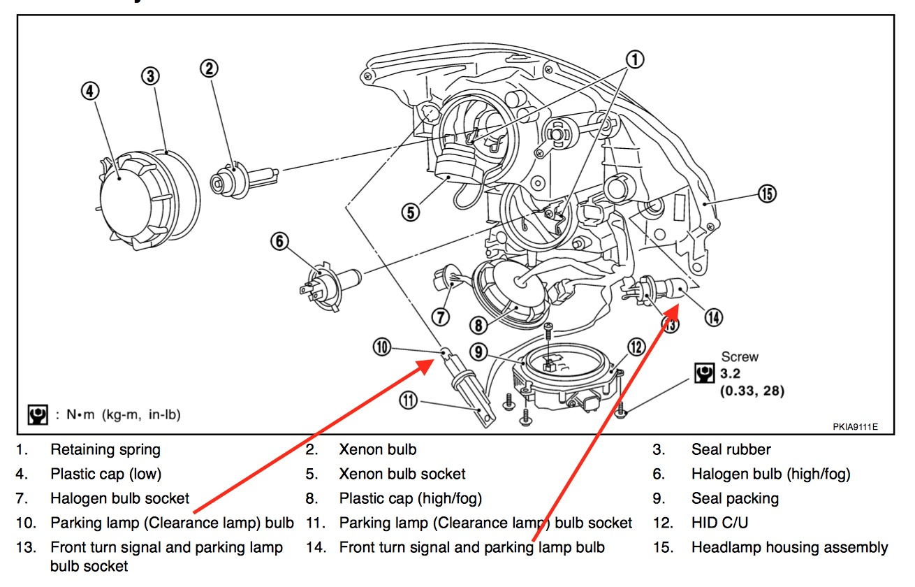 Infiniti Exhaust Diagram
