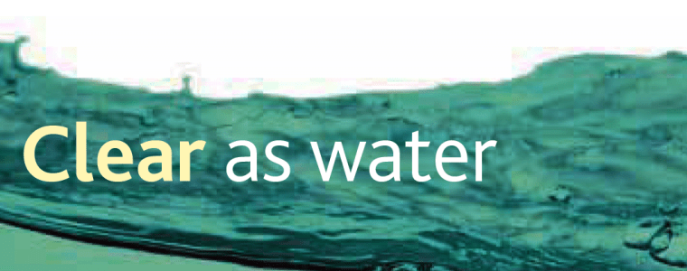 Clear as Water Banner