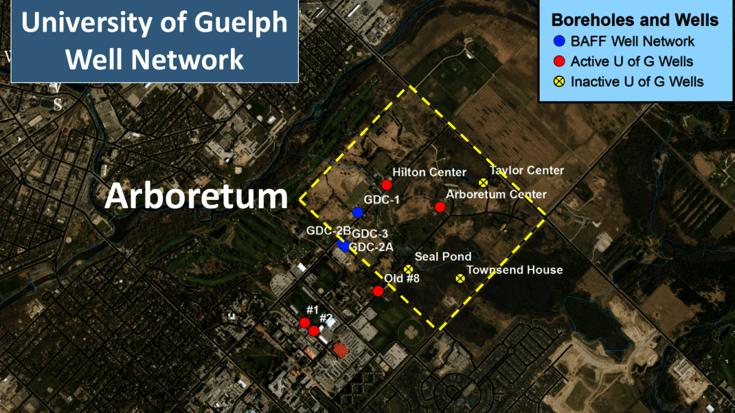 Map of the Arboretum research stations