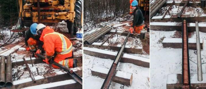 core logging in winter