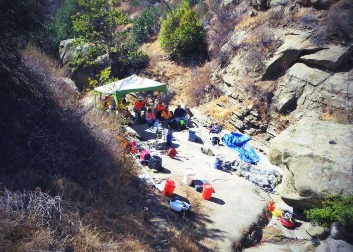 SSFL field site in California base camp