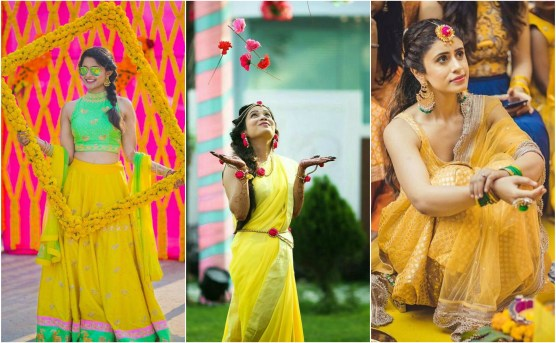Haldi Outfits for Bride