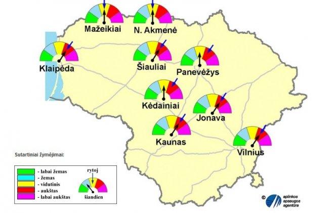 Lietuvos miestų ore vėl pagausėjo teršalų