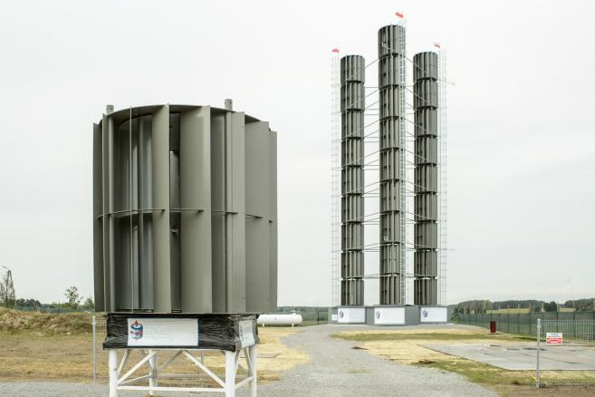Pionowa elektrownia wiatrowa (5) fot. (wp/mr) PAP/Wojciech Pacewicz