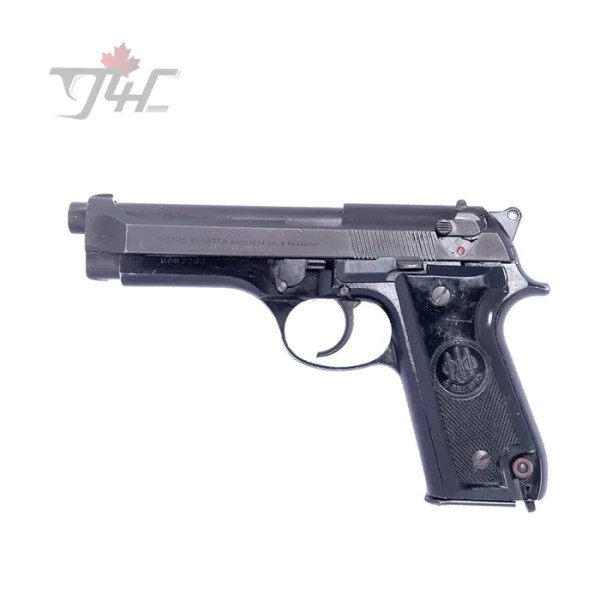 "Beretta 92S Italian Police Surplus 9mm 4.9"" BRL Black"