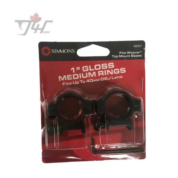 Simmons 1 Tube Ring Gloss (Medium)