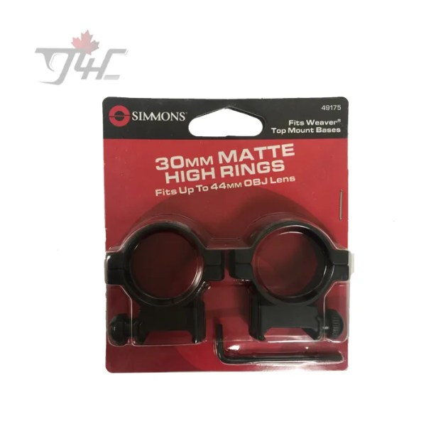 Simmons 30mm Tube Ring Matte High