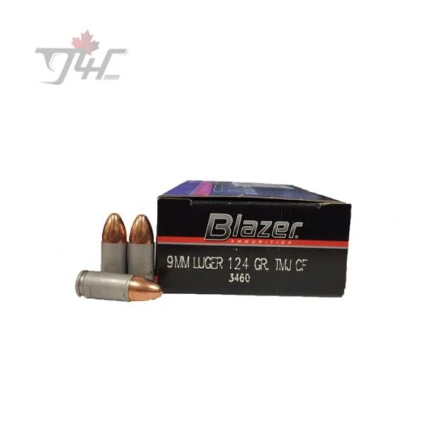 CCI Blazer 9mm 124gr. FMJ 50rds