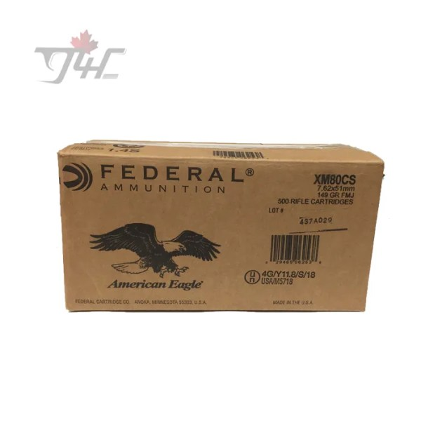 Fed. American Eagle 7.62x51mm 149gr. FMJ 500rds