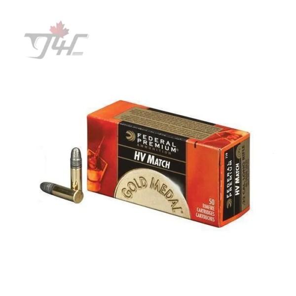 Federal Gold Medal .22LR HV Match 40gr. Solid 50rds