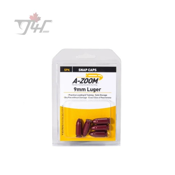 A-Zoom 15116 9mm Luger Snap Caps 5pack