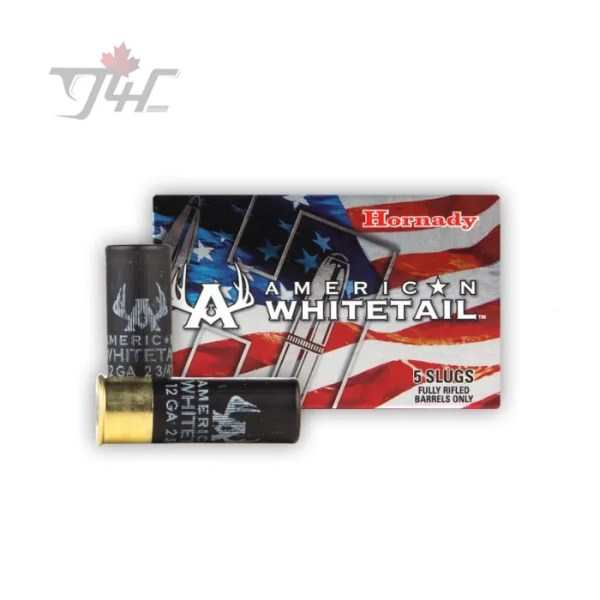 Hornady American Whitetail 12Gauge 325gr Slug 2-3/4inch InterLock HP 5rds