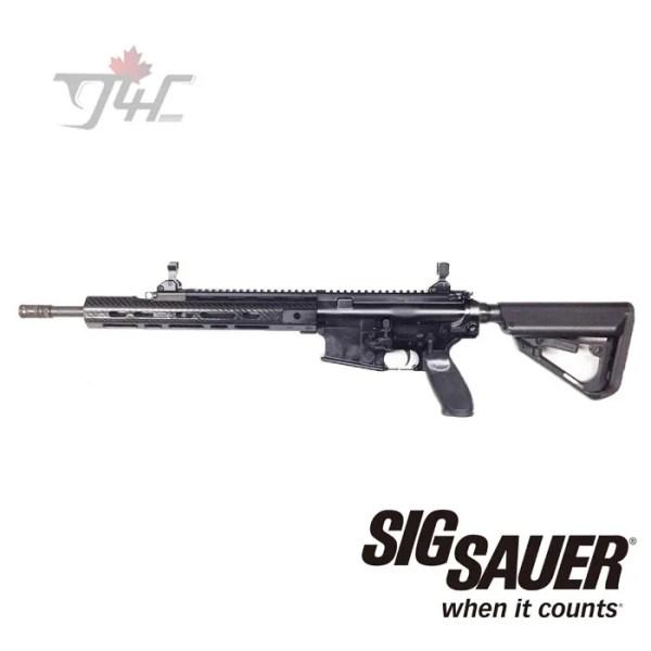 "Sig Sauer 716 Patrol w/Lancer Carbon Handguard .308WIN 16"" BRL Black (Demo)"