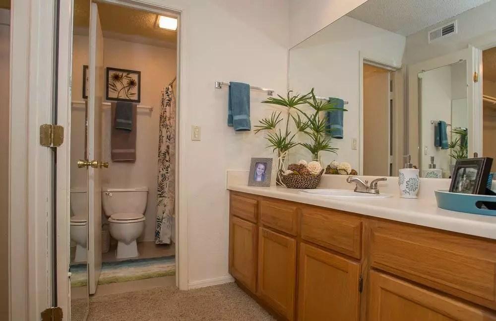 Bathroom At Polo Run Apartments
