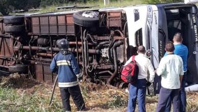 Photo of Seis pessoas ficaram feridas em acidente de Ônibus na BR-135