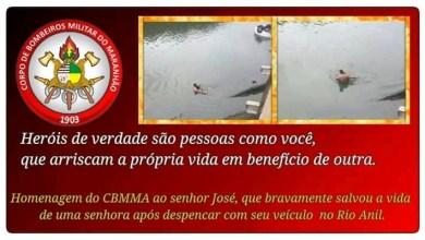 Foto de Pedreiro que salvou mulher recebe Título de Herói dos Bombeiros