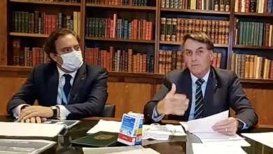 """Photo of """"Não há risco de Covid-19 em lotéricas porque  o vidro é blindado"""", diz Bolsonaro"""