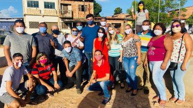 Photo of Fátima Araújo e Rubens Jr visitam obra de construção da Praça Dr Jackson Lago