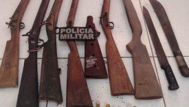 Foto de Polícia Militar apreende armas em Porto Rico do Maranhão