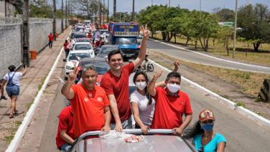 """Foto de """"Sinal de vitória"""", diz Márcio Jerry ao resumir primeiro ato de campanha de Rubens Júnior"""