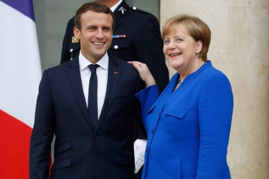 Image result for Macron and Merkel recent