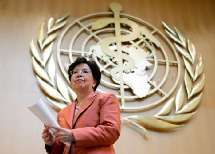 Outgoing WHO chief Margaret Chan | Fabrice Coffrini/AFP via Getty Images