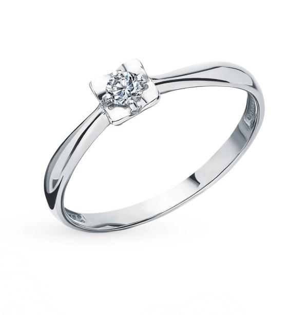 Золотое кольцо SUNLIGHT «Бриллианты Якутии»: белое золото ...