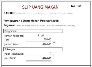 Uang Makan PNS Golongan II 2015 Tarif diralat jadi 30rb