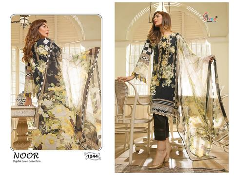 SHREE FABS S  1244 COTTON SUITS IN SINGLE