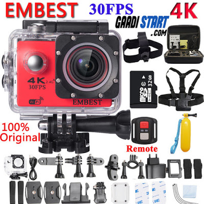 EMBEST 4K WIFI Remote Sport Action Camera Helmet Camcorder 16MP 170 Degree Wide Angle 2