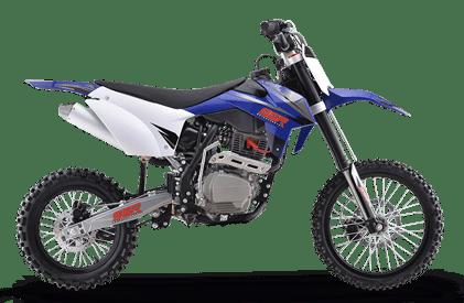 SR150 blue dirt bike